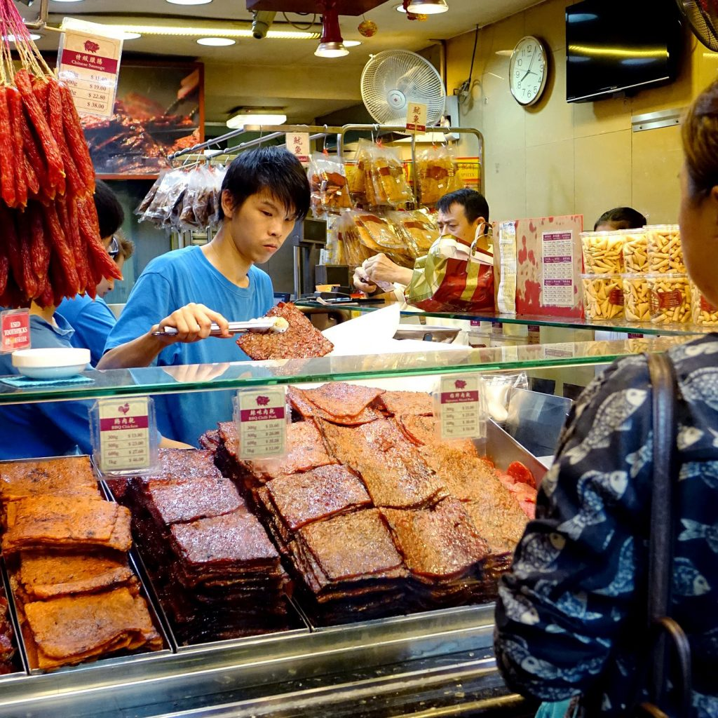Food market in Singapore
