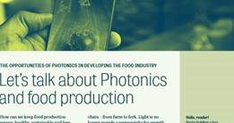 Link image to Let's talk about Photonics and food production Fact Sheet.